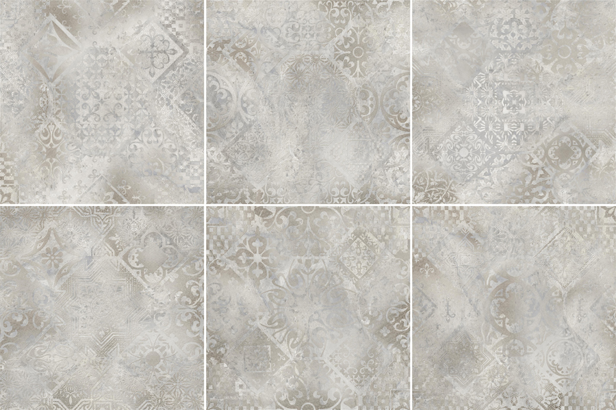 Керамогранит Absolut keramika Ellesmere Decor mix lapp. 60x60