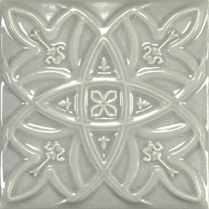 фото Плитка для ванной Amadis Antique Crackle Deco Relieve Greengreycrack Декор 150х150 мм/6шт