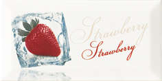 Плитка Monopole  Decor Ice Strawberry Декор 10x20 фото